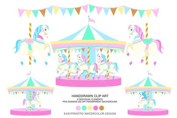 Horse carnival clip art. Carousel clipart