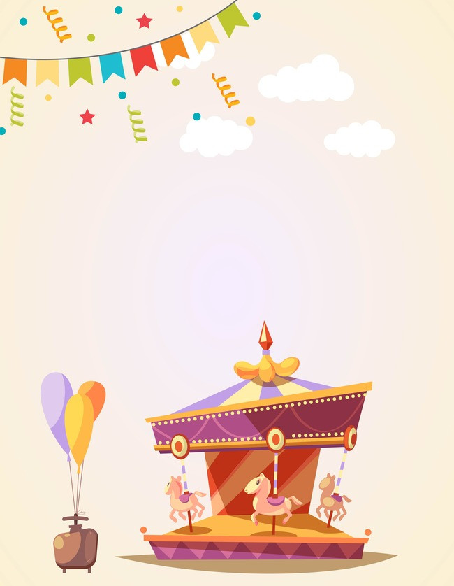 Carousel clipart background image. Vector cartoon material texture