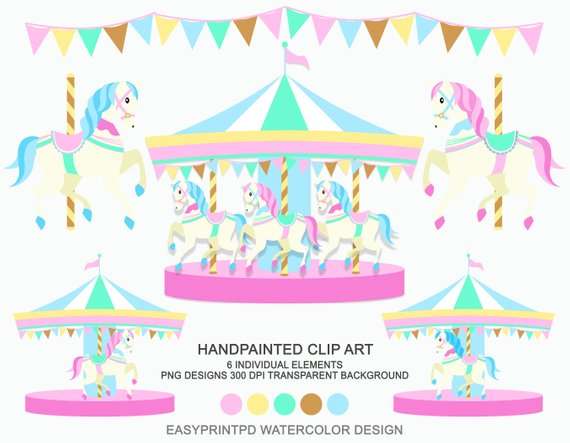 Carnival clip art personal. Carousel clipart background image