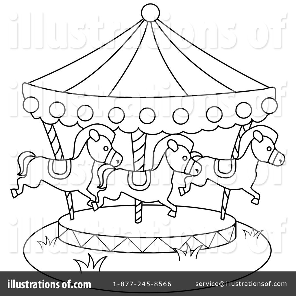 Carousel clipart black and white.  collection of high