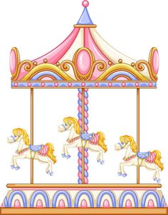Carousel clipart border. Doodle clip art eps