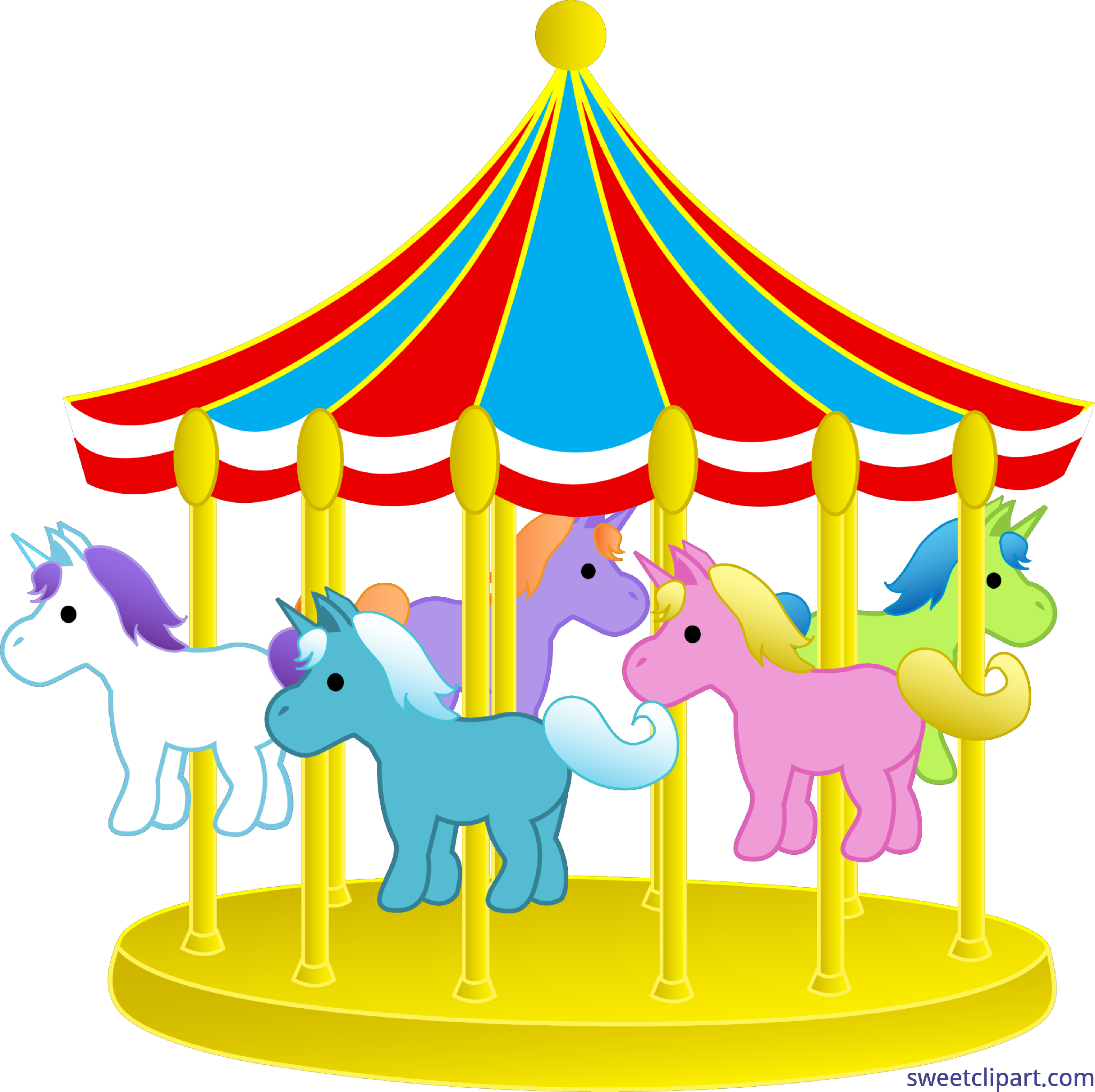 Game clipart funfair game. Objects carnival carousel clip