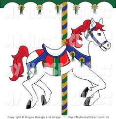 Carousel clipart carousal. Images of horses horse