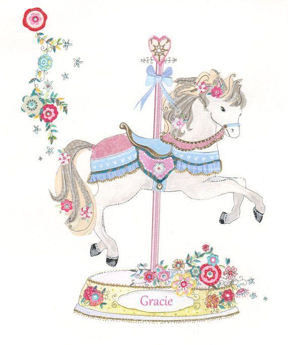 Horse a print which. Carousel clipart carousal