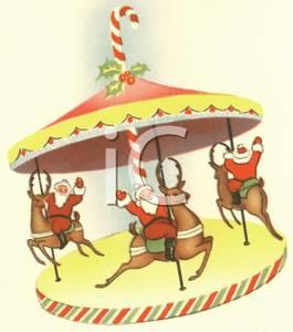 carousel clipart christmas