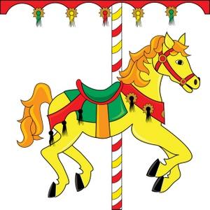 Fair clipart carousal. Free carousel horse image