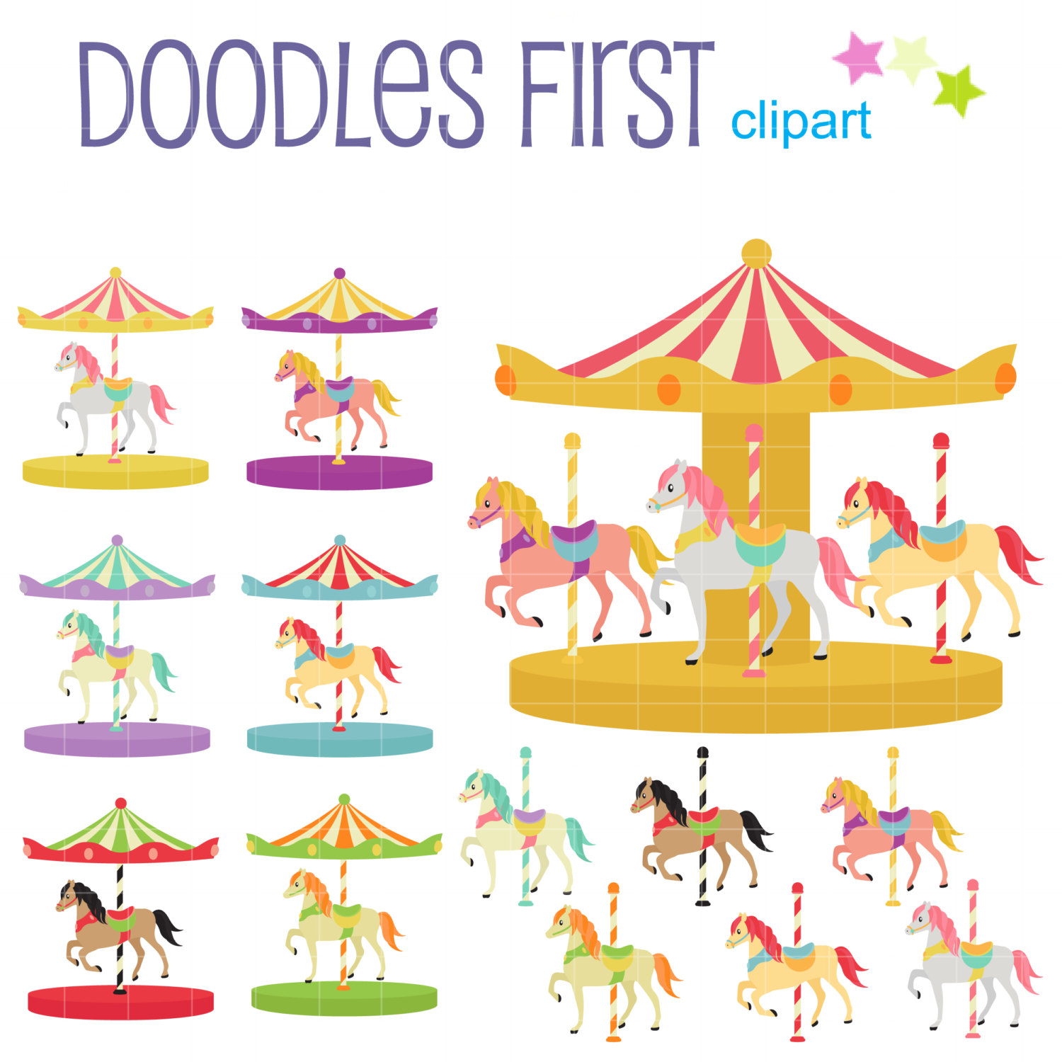 Free cliparts download clip. Carousel clipart colorful