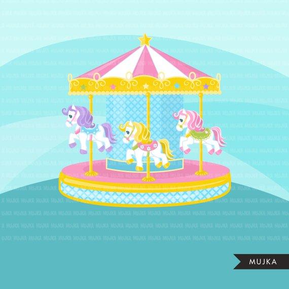 Carousel horses merry go. Fair clipart carousal
