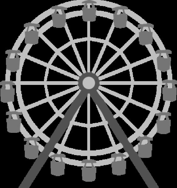 Cartoon pencil and in. London clipart ferris wheel london