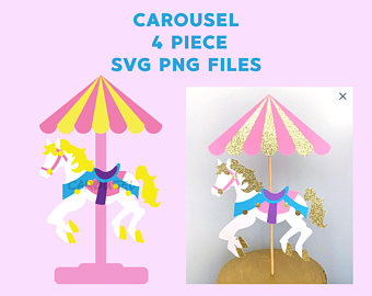 Carousel clipart file. Etsy