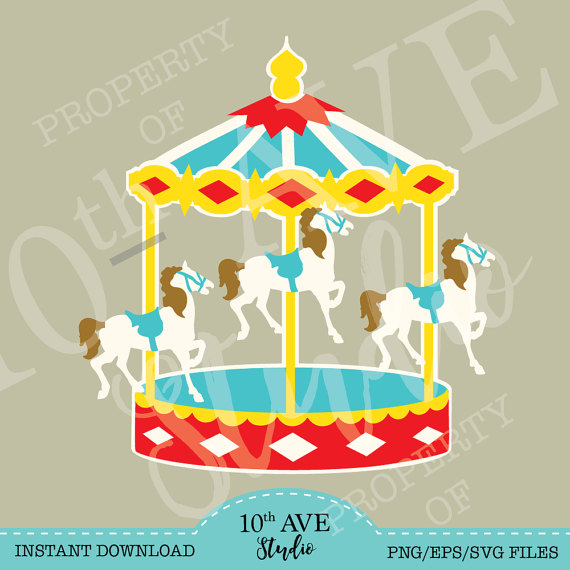 Merry go round svg. Carousel clipart file