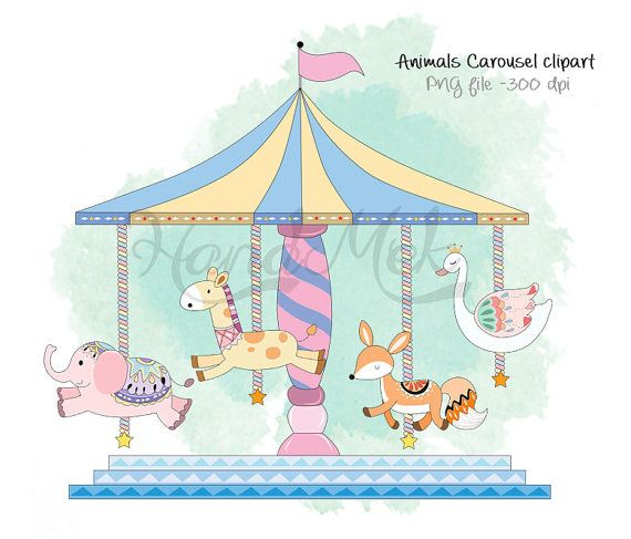 Animals set png dpi. Carousel clipart file