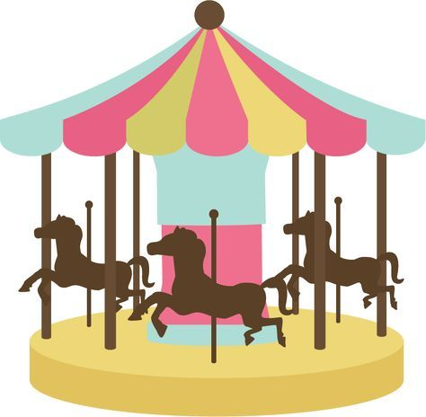 Svg cutting carnival games. Carousel clipart file