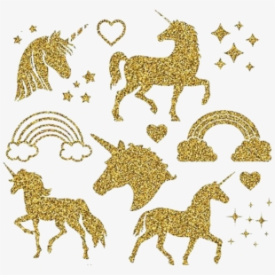 Gold silhouette of a. Carousel clipart glitter