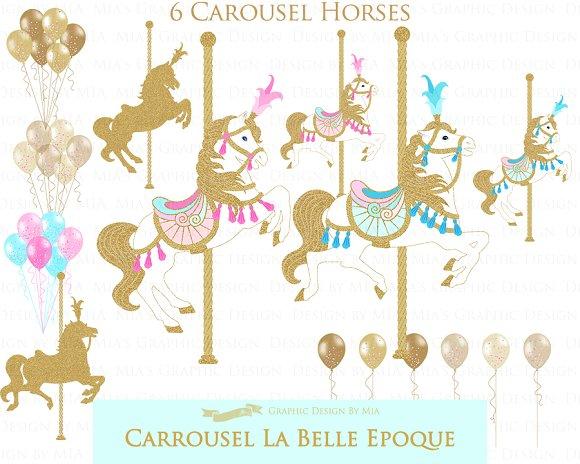Carousel clipart glitter. Gold pattern illustrations creative