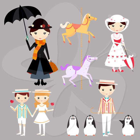 Carousel clipart mary poppins carousel.  best babyshower images