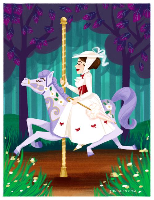 Google search disney art. Carousel clipart mary poppins carousel