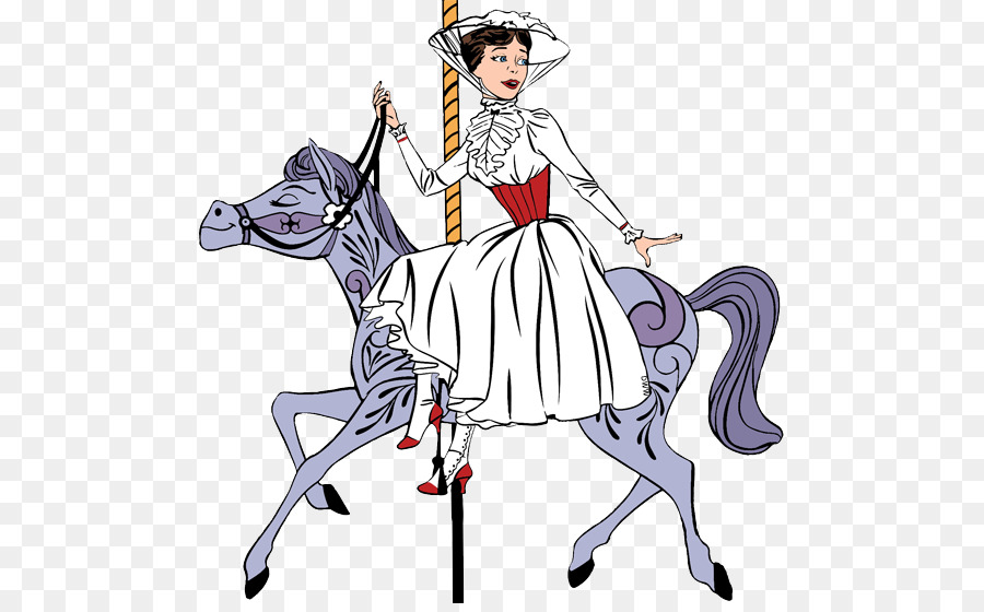 Mickey mouse horse silhouette. Carousel clipart mary poppins carousel