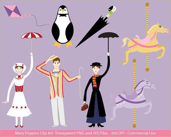 Clip art digital file. Carousel clipart mary poppins carousel