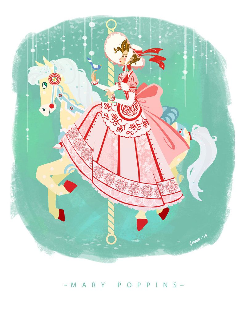 Carousel clipart mary poppins carousel. By chiara maria on