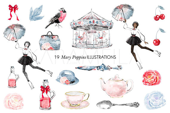 London fashion like this. Carousel clipart mary poppins carousel