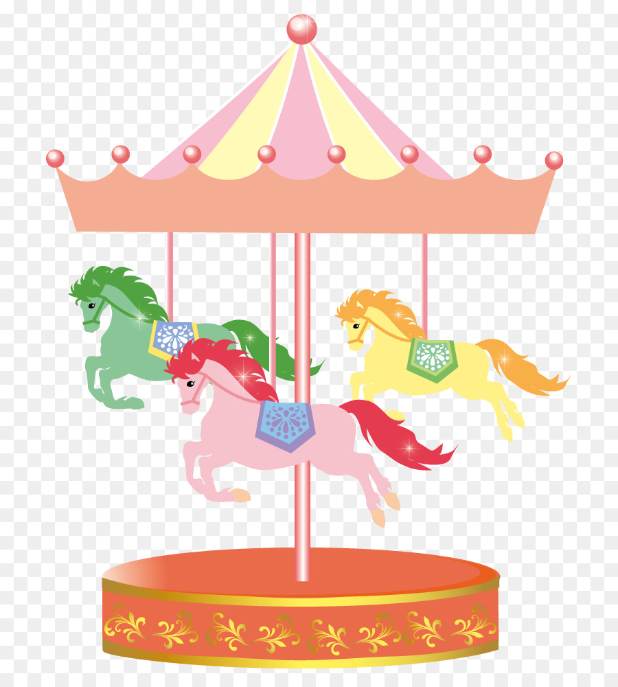 New year card clip. Carousel clipart merry go round