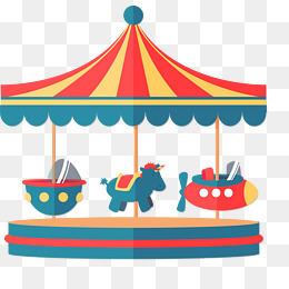 Carousel clipart merry go round. Png vectors psd and