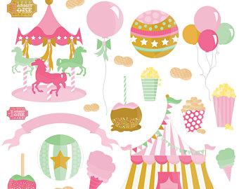 Carnival clip art personal. Carousel clipart pastel