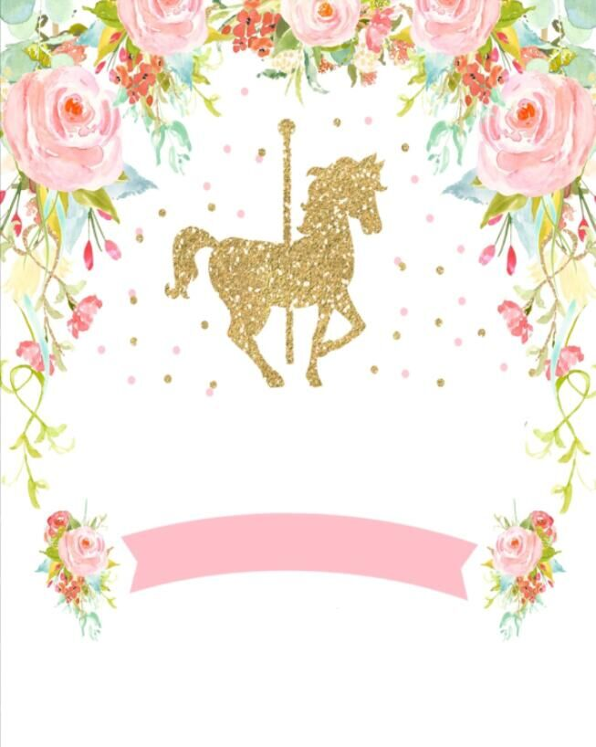 Carousel clipart pink. Us off x ft