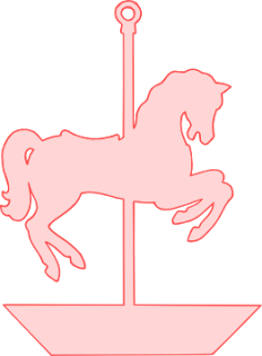 Horse svg free download. Carousel clipart pink