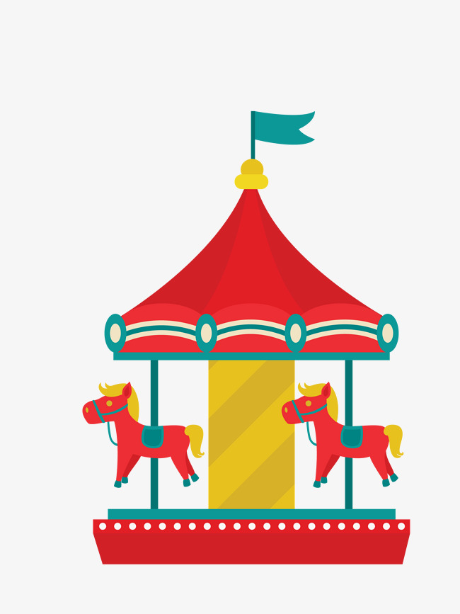 Carousel clipart playground. Vector color vectorcolor png