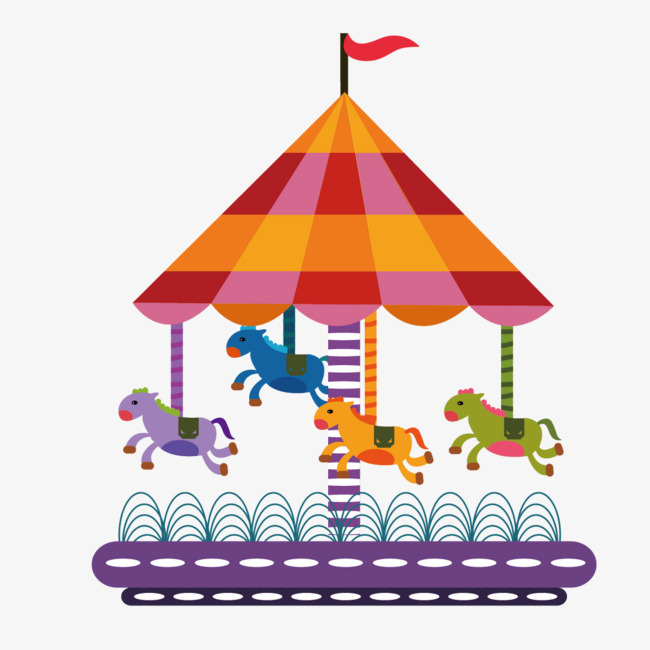 Carousel clipart playground. Vector png and for