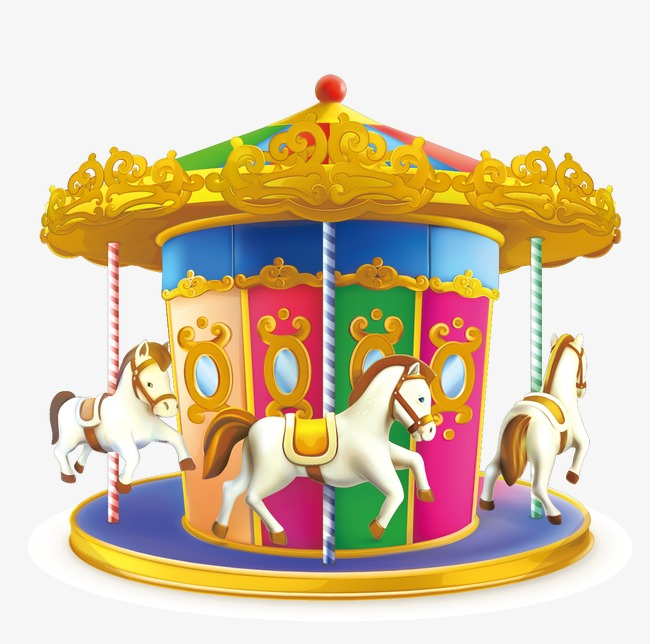Cartoon children png and. Carousel clipart playground