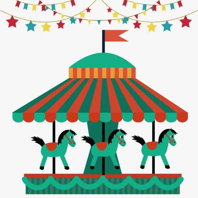 Cartoon png and vector. Carousel clipart playground