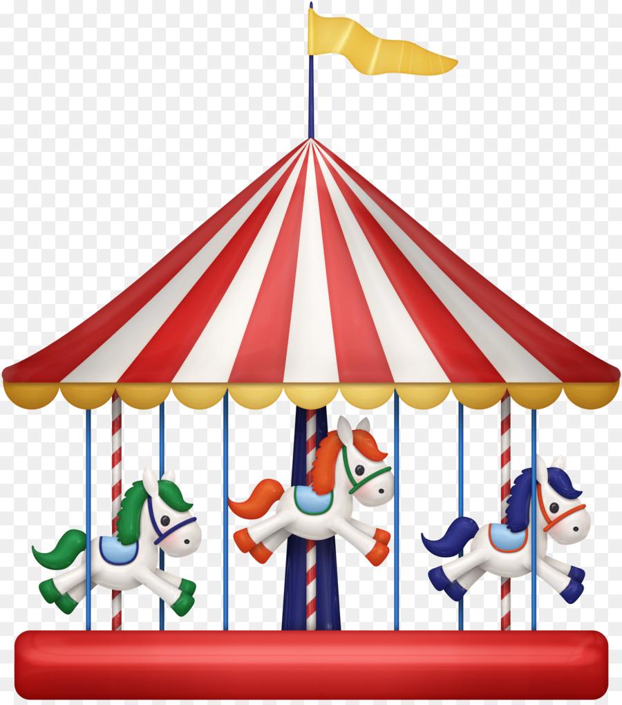 Cartoon horse park . Carousel clipart playground