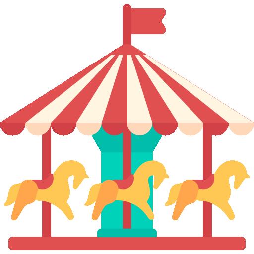 Carousel clipart playground. Cartoon park transparent