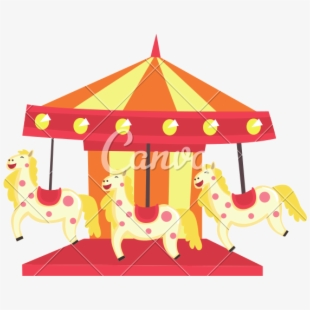 Carousel clipart pretty baby. Carnival transparent png