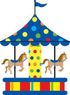 Horse merry go diy. Carousel clipart pretty baby