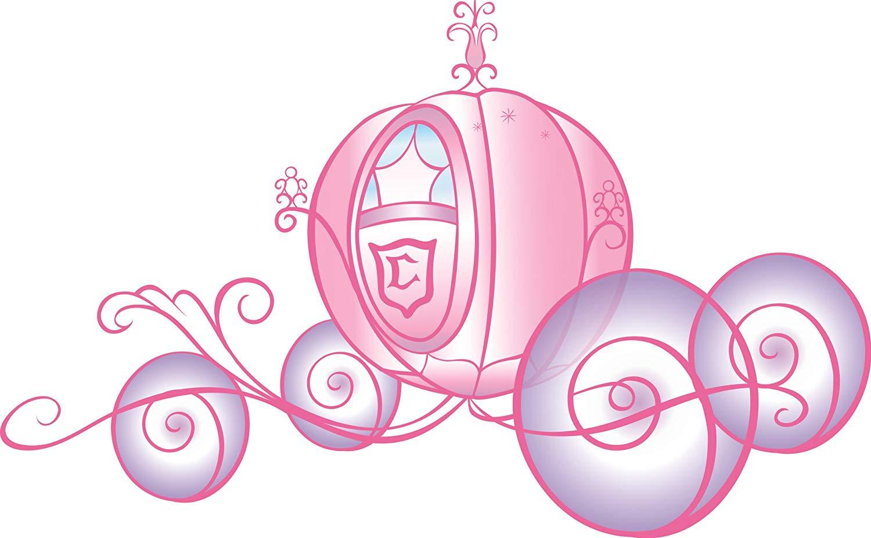 Carriage clipart princess. Amazon com roommates rmk