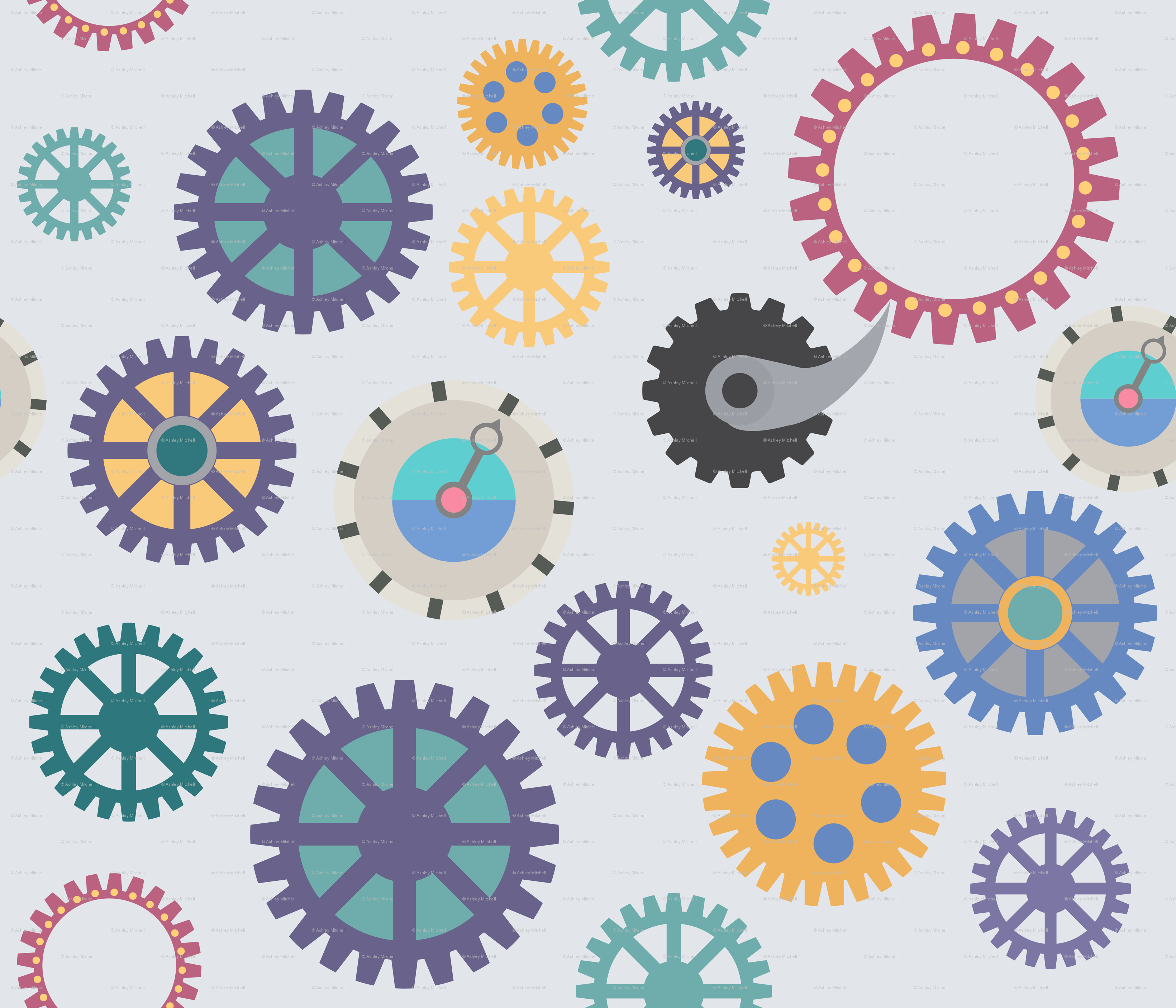 Of gears fabric artgirl. Carousel clipart progress
