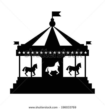. Carousel clipart silhouette