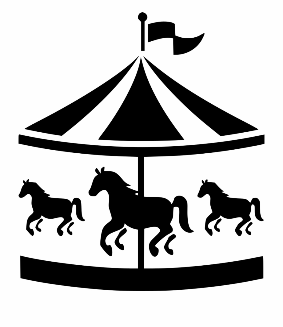 Carousel clipart silhouette. Png free images download