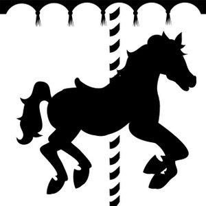 Caraousel horse image of. Carousel clipart silhouette