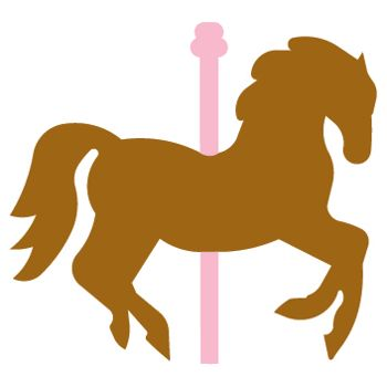 Carousel clipart silhouette. Horse at getdrawings com