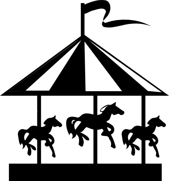 best images on. Carousel clipart silhouette