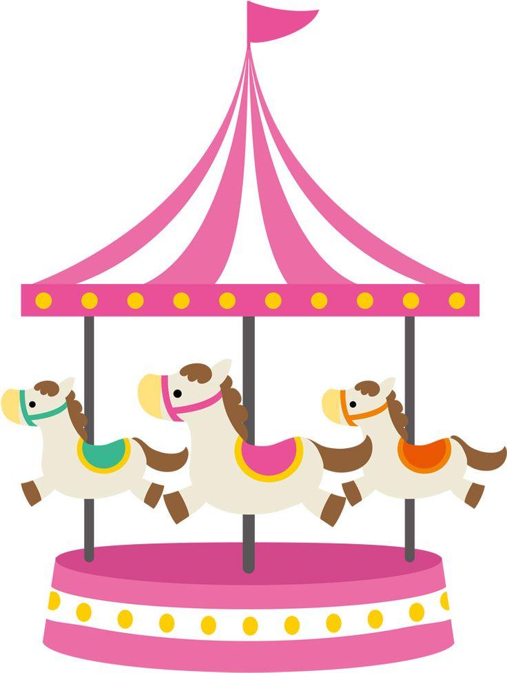 best scrapbook amusement. Carousel clipart tent circus pink