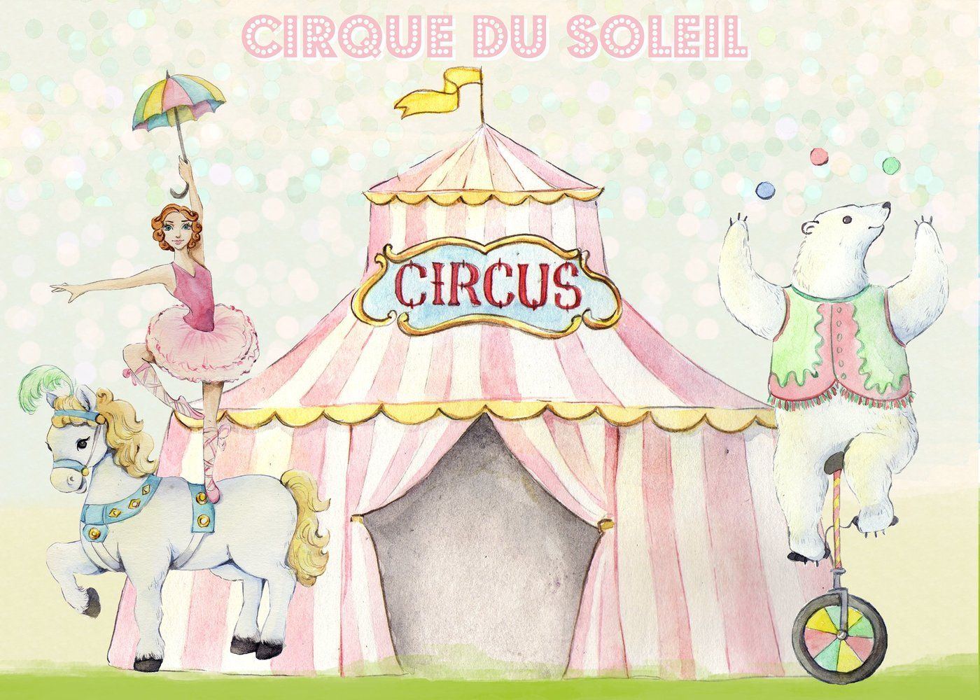 Carousel clipart tent circus pink. Watercolor images and