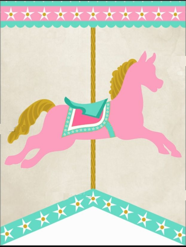 best baby shower. Carousel clipart tent circus pink