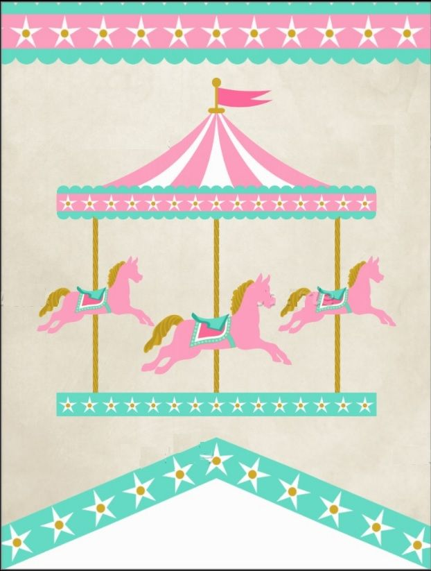 Carousel clipart tent circus pink.  best baby shower