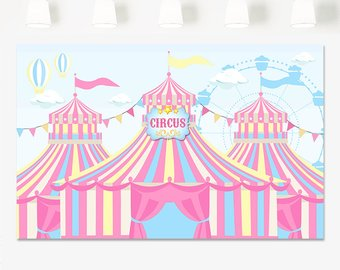 Carousel clipart tent circus pink. Etsy sale carnival birthday